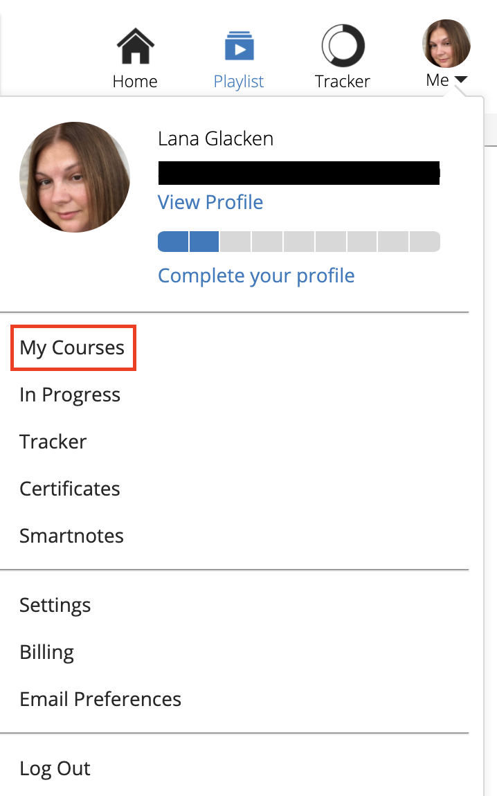 My_courses_option_on_lawline_account_menu