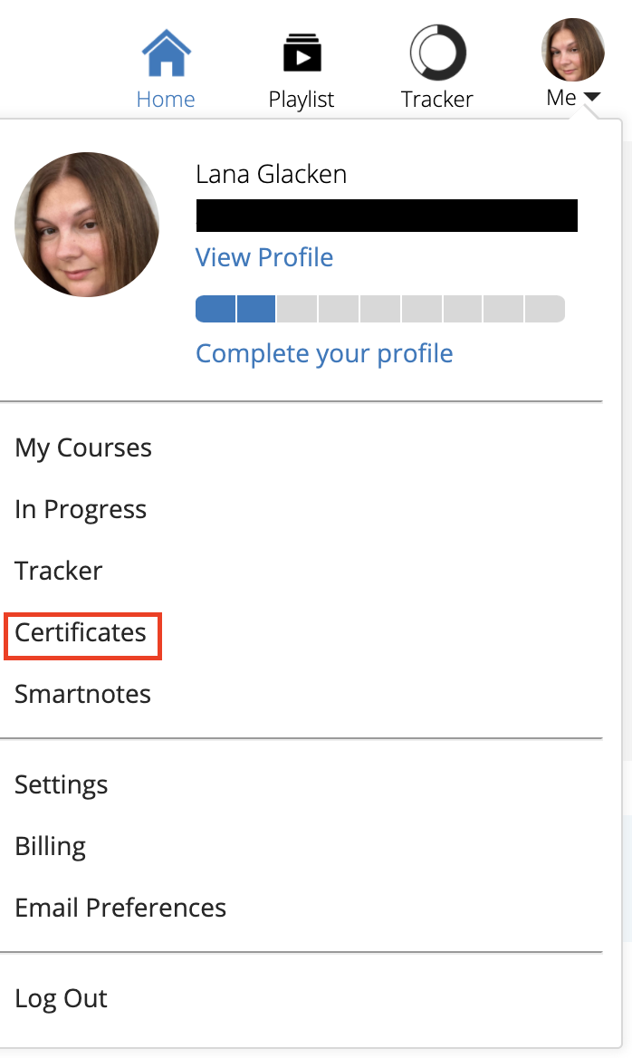 Certificates_option_on_the_Lawline_Account_Menu